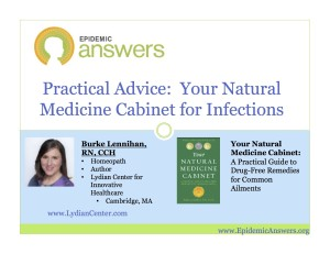 Your Natural Medicine Cabinet for Infections and Colds with Burke Lennihan